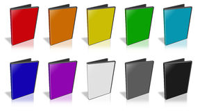 DVD Case. This is a 3D rendering of a DVD Case Royalty Free Stock Photography