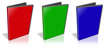 DVD Case. This is a 3D rendering of a DVD Case Royalty Free Stock Images