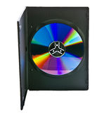 DVD case and disc. Isolated on white royalty free stock photography