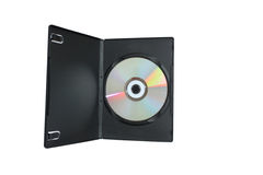 DVD Case and Disc. On white background stock image