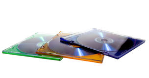 DVD case with disc. Some of classic CD/DVD case with disc royalty free stock photos