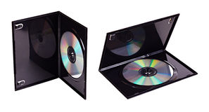 The DVD case with a disk inserted isolated Stock Photos