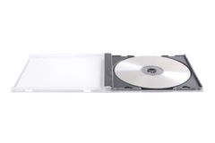 DVD case isolated on white Royalty Free Stock Photography