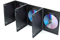 Dvd cases Royalty Free Stock Images