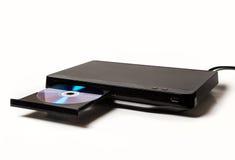 DVD/CD плеер при открытый изолированный поднос стоковое изображение rf
