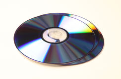 DVD_CD. DVD disks isolated over a white background Royalty Free Stock Photography