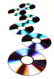 DVD_CD. DVD disks isolated over a white background Stock Image
