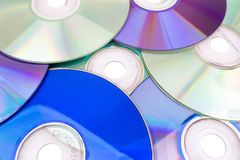 DVD and CD background Stock Photos