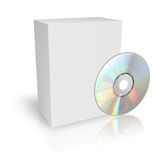 DVD or CD Box. 3d DVD or CD Box Stock Photography