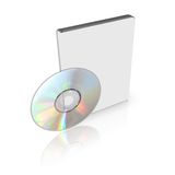 DVD or CD Box Royalty Free Stock Images