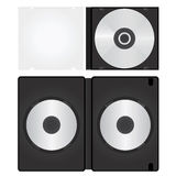 Dvd and cd box vector Royalty Free Stock Photography