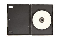 Dvd cd case with blank media Stock Photos