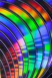 DVD cd del arco iris bluray Fotos de archivo libres de regalías