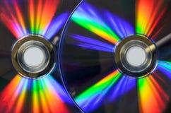 DVD cd del arco iris bluray Fotografía de archivo