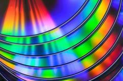 DVD cd del arco iris bluray Foto de archivo libre de regalías