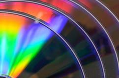 DVD cd del arco iris bluray Imágenes de archivo libres de regalías