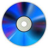 DVD CD disc. Blank DVD CD disc realistic vector illustration Royalty Free Stock Photography