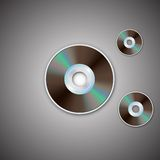 DVD CD disc. Computer disks. Realistic image. DVD and CD disc. Computer disks. Realistic image. Made in vector illustration Stock Image