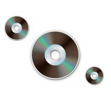 DVD CD disc. Computer disks. Realistic image. DVD and CD disc. Computer disks. Realistic image. Made in vector illustration Royalty Free Stock Images