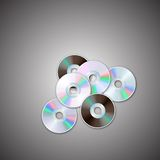 DVD and CD disc sets. Computer disks. Realistic image. Made in vector illustration Stock Photography