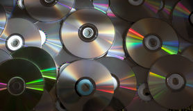 Dvd and CD discs royalty free stock image