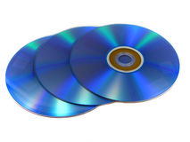 DVD or CD discs Stock Photo