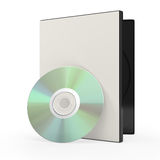 Dvd or cd disk and case Stock Photos