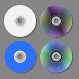 DVD CD disks. Vector illustration. Royalty Free Stock Photography