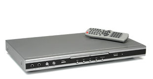Dvd cd mp3 player with remote control. Appliance series stock image