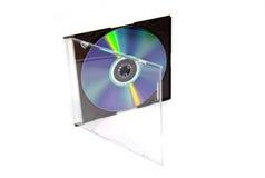 /DVD CD nella casella Fotografie Stock Libere da Diritti