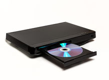 DVD / CD player with open tray isolated Royalty Free Stock Photo