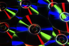 DVD, CD-ROM, Blu-ray Disc. Photographed in the studio environment cd, dvd, blu-ray disc Royalty Free Stock Images