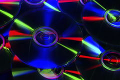 DVD, CD-ROM, Blu-ray Disc. Photographed in the studio environment cd, dvd, blu-ray disc Royalty Free Stock Image