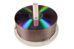 DVD/CD stack. Royalty Free Stock Image