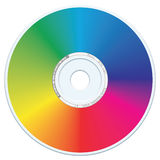 DVD-CD Vector. Blank rainbow DVD-CD vector Stock Photo