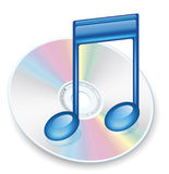 DVD-CD Vector. Blank rainbow DVD-CD vector Royalty Free Stock Image