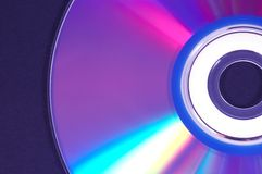Dvd close up Stock Image