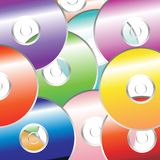 DVD_color pattern. CD DVD color pattern over white background