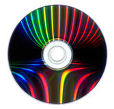 DVD with colorful reflexions Royalty Free Stock Photos
