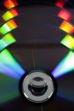Dvd with colour light Stock Photos