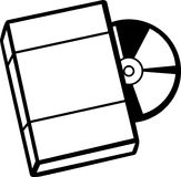 Dvd com caixa Imagens de Stock
