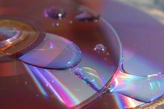 DVD com gotas da água Imagem de Stock Royalty Free