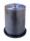 DVD compact disc stack Stock Image
