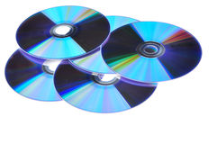 DVD Compact Discs Stock Images