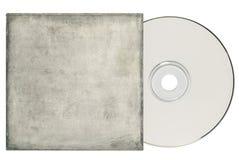 DVD con la manga blanca sucia. foto de archivo