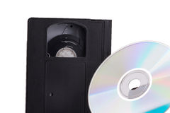 DVD contra Video Cassette Royalty Free Stock Image