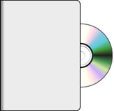 DVD cover with disk Royalty Free Stock Photography