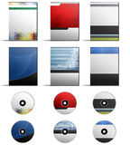 DVD Cover Set. A set of six high resolution DVD Covers with matching Discs. Simply add your own text for an instant virtual product representation vector illustration