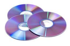 DVD d'isolement sur le blanc Images libres de droits