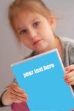 Dvd da preensão da menina Imagem de Stock